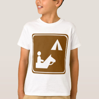 Equestrian Campground Highway Sign T-Shirt