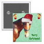 Equestrian Christmas 15 Cm Square Badge