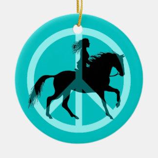 equestrian christmas ornament