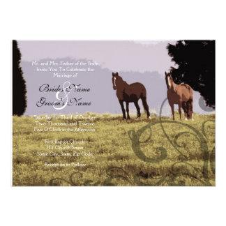 Equestrian Country Wedding Invitation