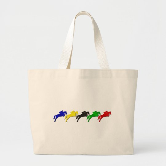 Equestrian dressage and show jumping horse large tote