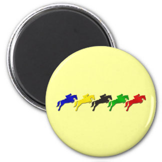 Equestrian dressage and show jumping horse fridge magnets