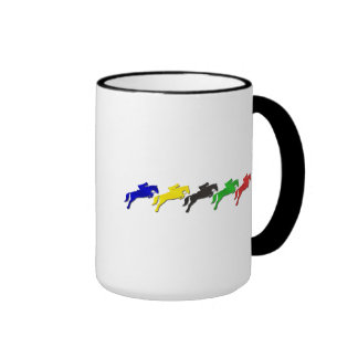 Equestrian dressage and show jumping horse ringer mug