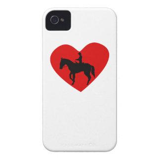 Equestrian Horse Heart iPhone 4 Case-Mate Cases