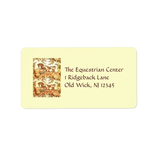 Equestrian Horse Label Address Label