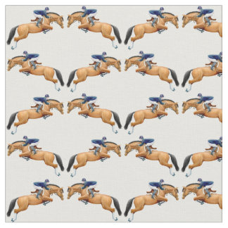 Equestrian Hunter Jumper Horse Fabric