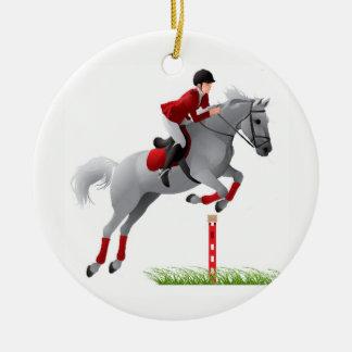 Equestrian Jumper Christmas Ornament