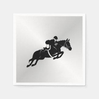 Equestrian Jumper Horse Disposable Serviette