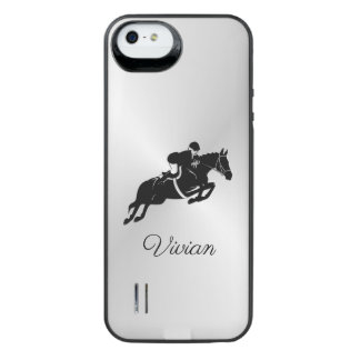 Equestrian Jumper with Name iPhone SE/5/5s Battery Case
