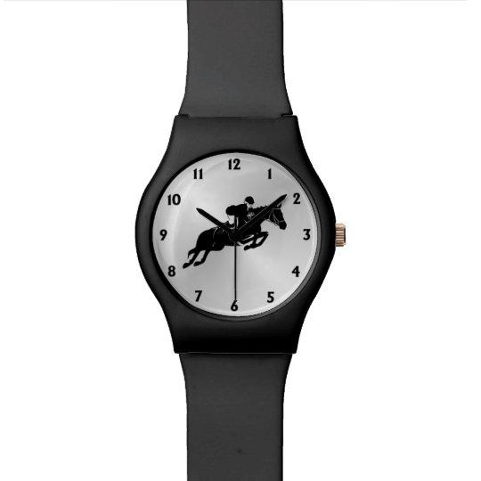 Equestrian Jumper with Twelve Numbers Watch