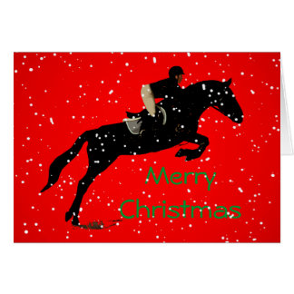 Equestrian Jumpin Great Christmas Greeting Card