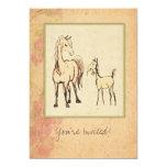 Equestrian Mare and Foal Baby Shower Invitation 13 Cm X 18 Cm Invitation Card