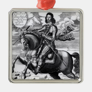 Equestrian portrait christmas ornament