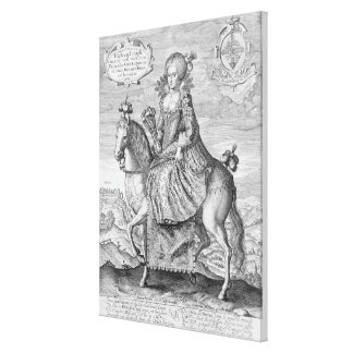 Equestrian Portrait of Anne of Denmark (1574-1619) Stretched Canvas Print