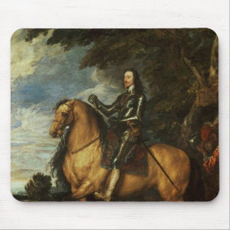 Equestrian Portrait of Charles I  c.1637-38 Mouse Mat