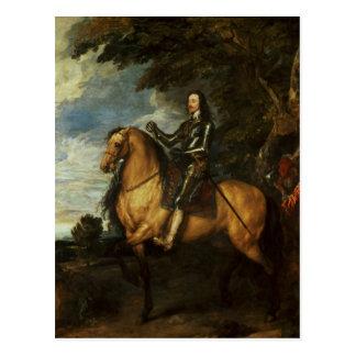 Equestrian Portrait of Charles I  c.1637-38 Postcard