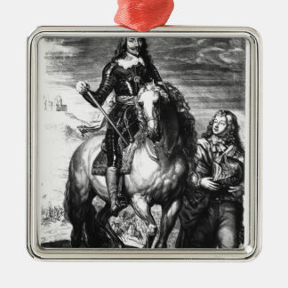 Equestrian portrait of Charles I Christmas Ornament
