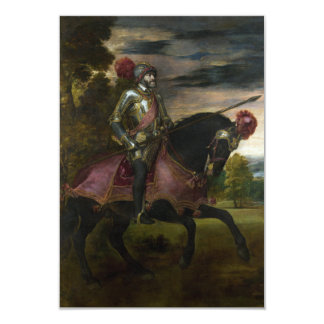 Equestrian Portrait of Charles V by Titian 9 Cm X 13 Cm Invitation Card