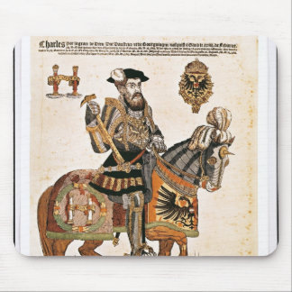 Equestrian portrait of Charles V in armour Mouse Mat