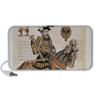 Equestrian portrait of Charles V in armour iPod Speaker