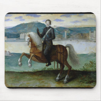 Equestrian Portrait of Henri IV  King of Mouse Mat