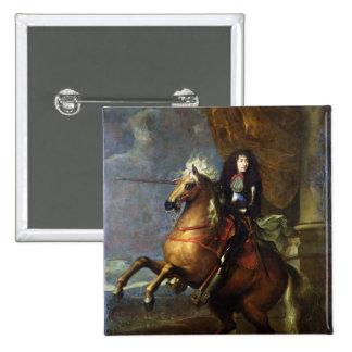 Equestrian Portrait of Louis XIV  c.1668 15 Cm Square Badge