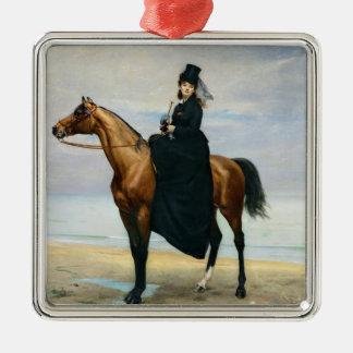 Equestrian Portrait of Mademoiselle Croizette Christmas Ornament