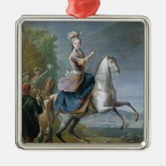 Equestrian Portrait of Maria Leszczynska Christmas Ornament