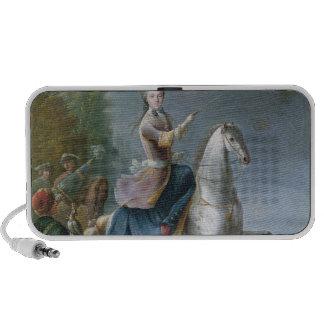 Equestrian Portrait of Maria Leszczynska Portable Speakers