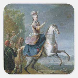 Equestrian Portrait of Maria Leszczynska Square Sticker