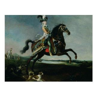 Equestrian Portrait of Marie-Antoinette Postcard