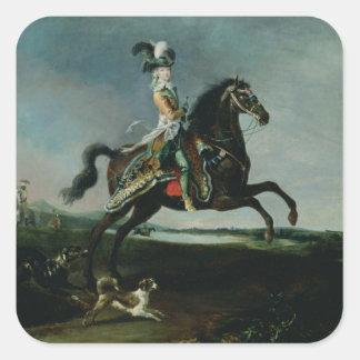 Equestrian Portrait of Marie-Antoinette Square Sticker