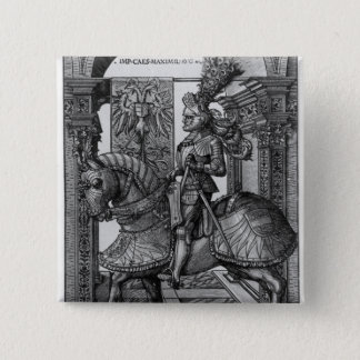 Equestrian portrait of Maximilian I  c.1508 15 Cm Square Badge