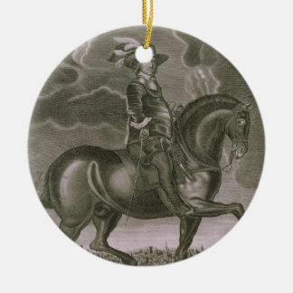 Equestrian Portrait of Oliver Cromwell (1599-1658) Christmas Ornament