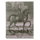 Equestrian Portrait of Oliver Cromwell (1599-1658) Notebook