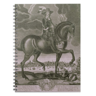 Equestrian Portrait of Oliver Cromwell (1599-1658) Spiral Notebook