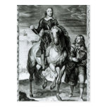 Equestrian Portrait of Oliver Cromwell Postcard