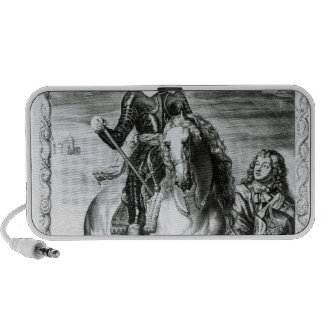 Equestrian portrait of Oliver Cromwell Portable Speaker