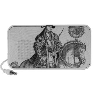 Equestrian Portrait of Philip II  of Spain Laptop Speakers