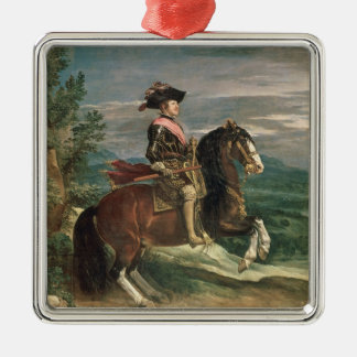Equestrian Portrait of Philip IV  c.1636 Christmas Ornament