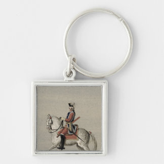 Equestrian portrait of Prince Charles Key Ring