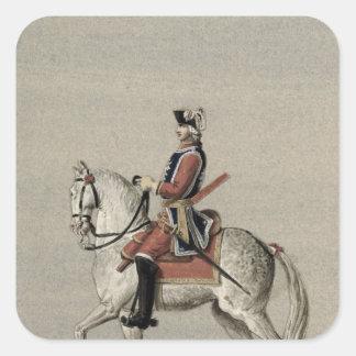 Equestrian portrait of Prince Charles Square Sticker
