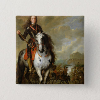 Equestrian Portrait of Prince Eugene 15 Cm Square Badge