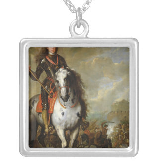 Equestrian Portrait of Prince Eugene Silver Plated Necklace