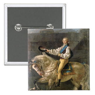 Equestrian Portrait of Stanislas Kostka 15 Cm Square Badge