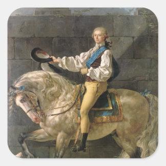 Equestrian Portrait of Stanislas Kostka Square Sticker