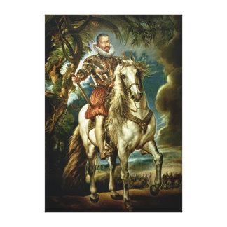 Equestrian portrait of the Duke of Lerma  1603 Canvas Print