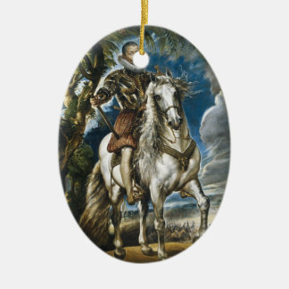 Equestrian Portrait of the Duke of Lerma Rubens Christmas Ornament