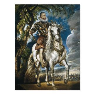 Equestrian Portrait of the Duke of Lerma Rubens Postcard