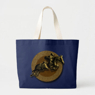 EQUESTRIAN SHOW JUMPING LARGE TOTE BAG